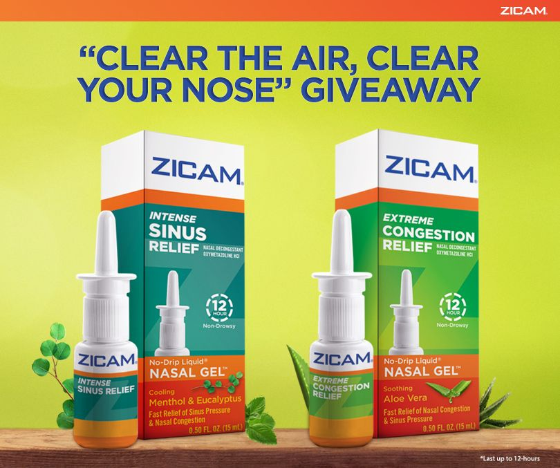 "Zicam ""Clear the Air, Clear Your Nose"" Giveaway"
