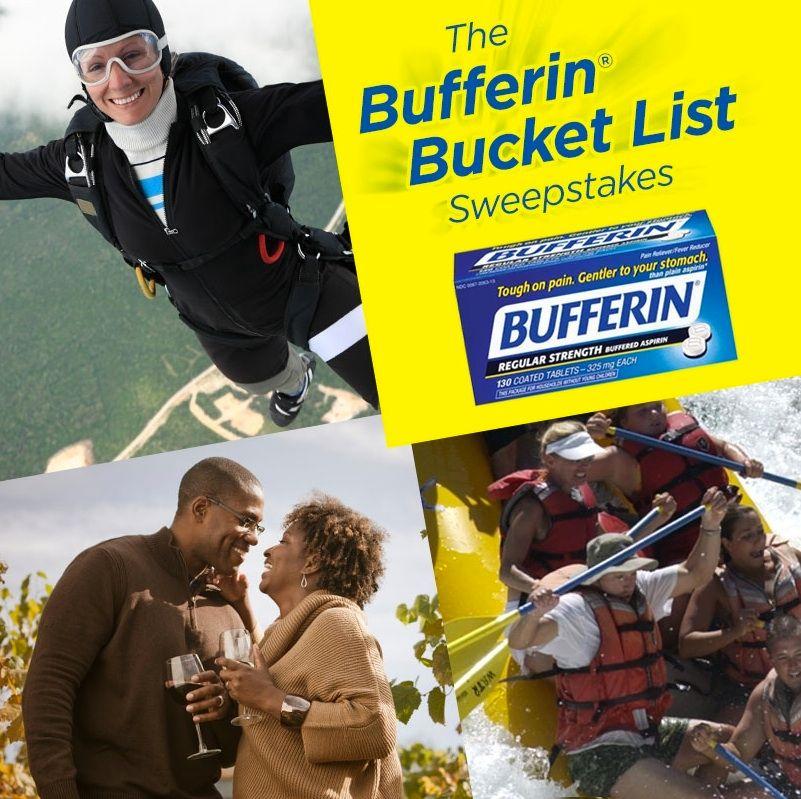 Bufferin® Bucket List Sweepstakes