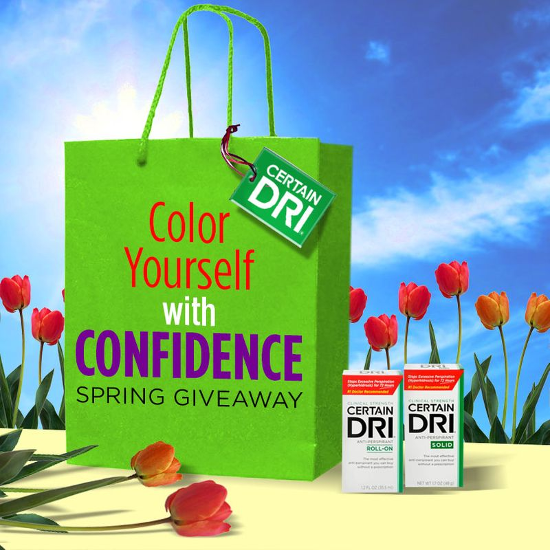 Certain Dri® Color Yourself with Confidence Spring Giveaway