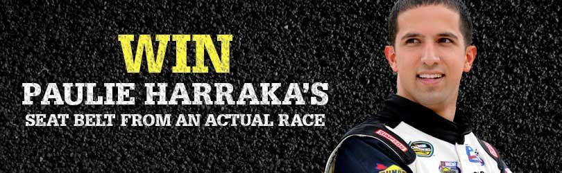 Win Paulie Harraka's seatbelt harness
