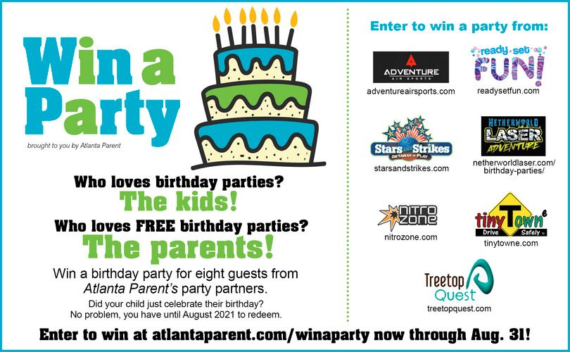 Win a Free Birthday Party 2020!